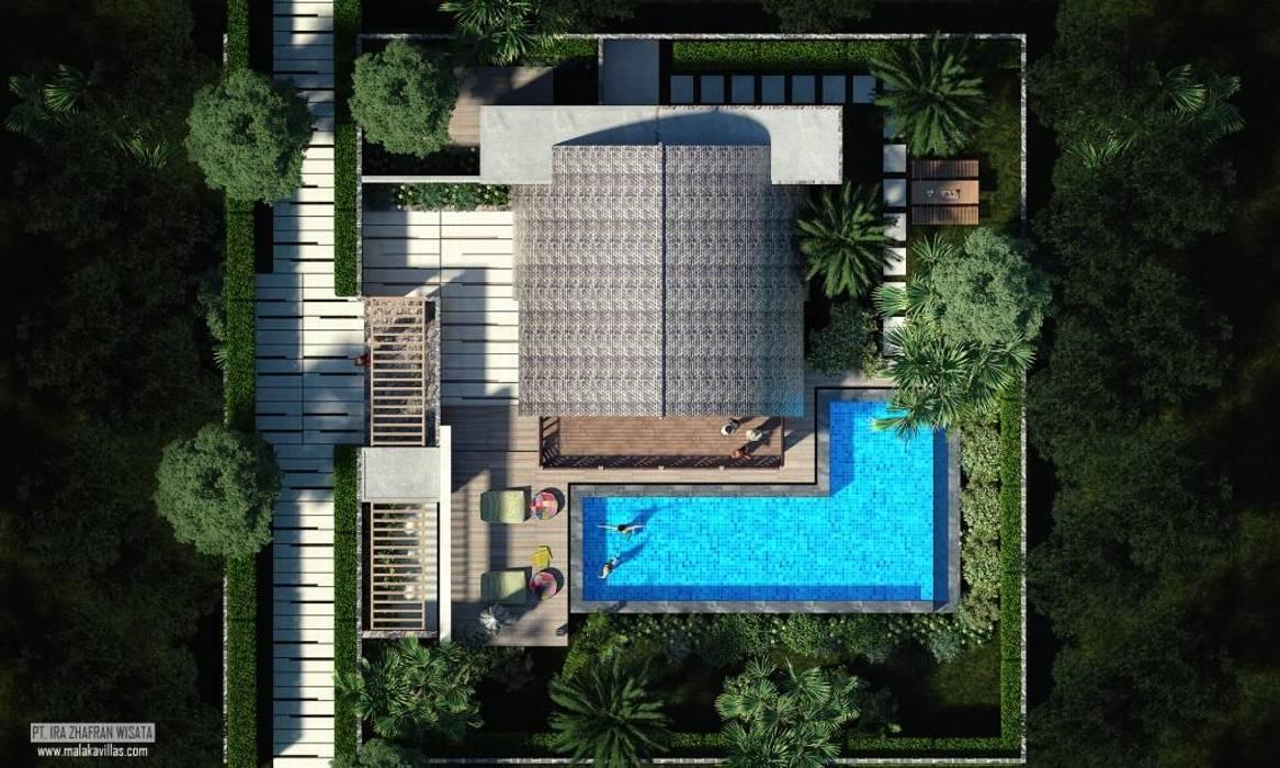 Top View Oleh Skye Architect Tropis Kayu Buatan Transparent