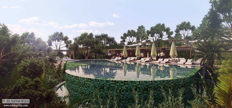 Pool Views 2 Hotel Tropis Oleh Skye Architect Tropis Keramik
