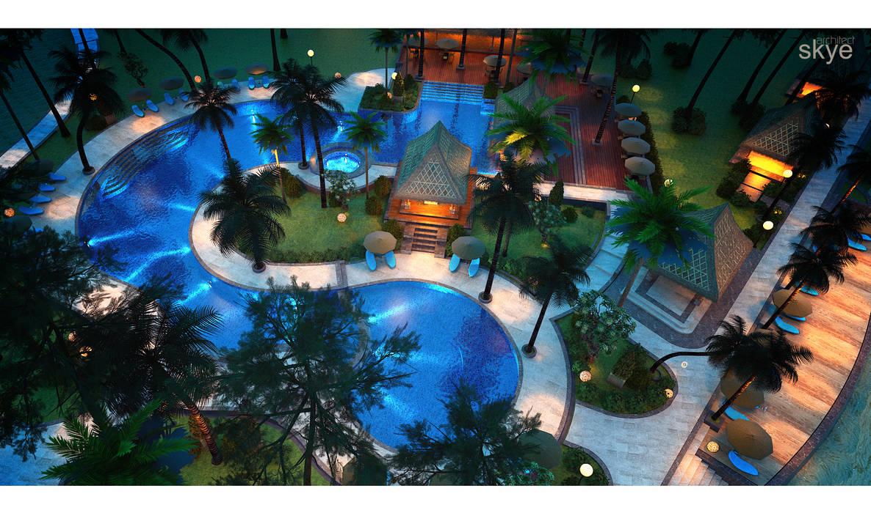Hôtels tropicaux par Skye Architect Tropical Céramique