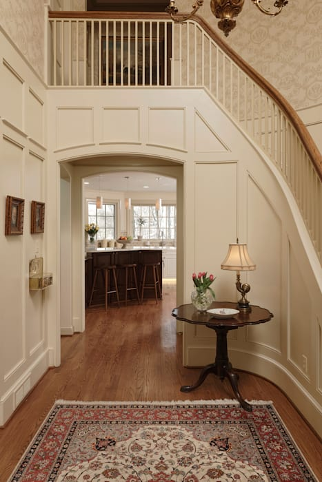 """Cook's Kitchen"" Renovation in Potomac, Maryland BOWA - Design Build Experts Classic style corridor, hallway and stairs"