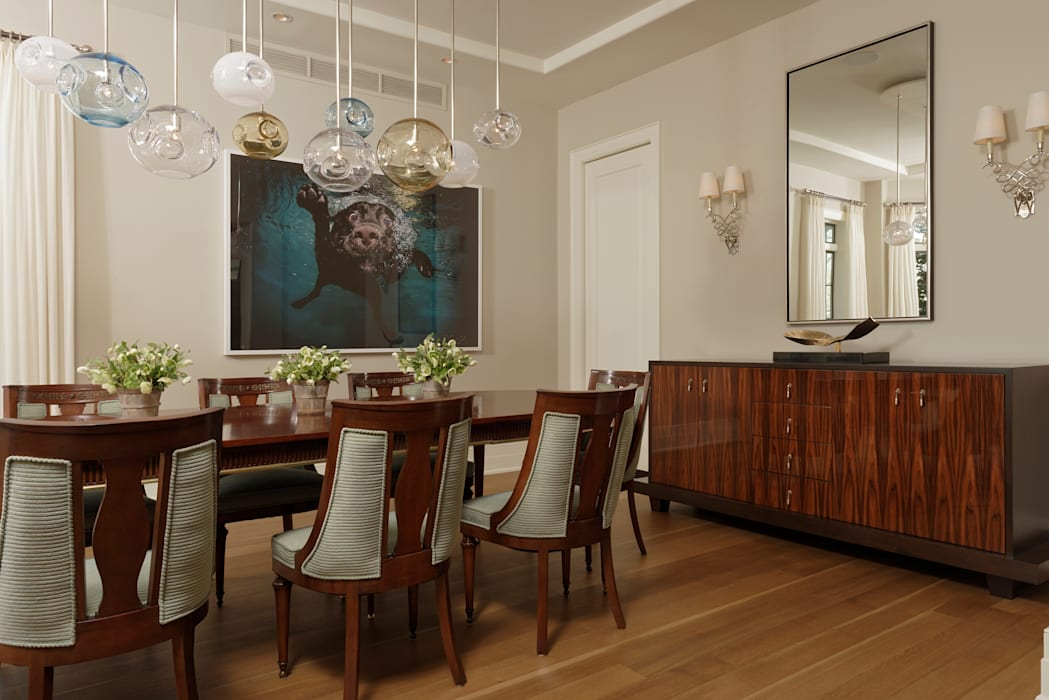 Fire Restoration in Chevy Chase Creates Opportunity for Whole House Renovation BOWA - Design Build Experts Dining room
