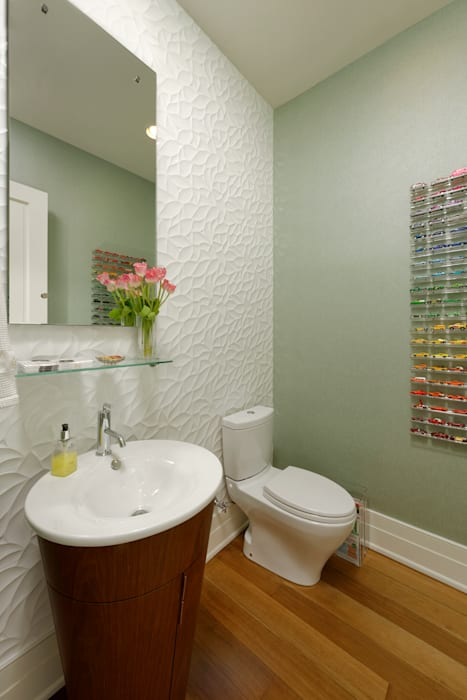 Fire Restoration in Chevy Chase Creates Opportunity for Whole House Renovation BOWA - Design Build Experts Modern bathroom