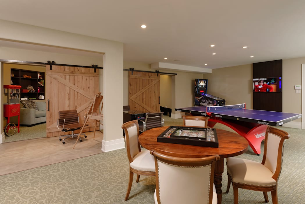 Fire Restoration in Chevy Chase Creates Opportunity for Whole House Renovation BOWA - Design Build Experts Media room