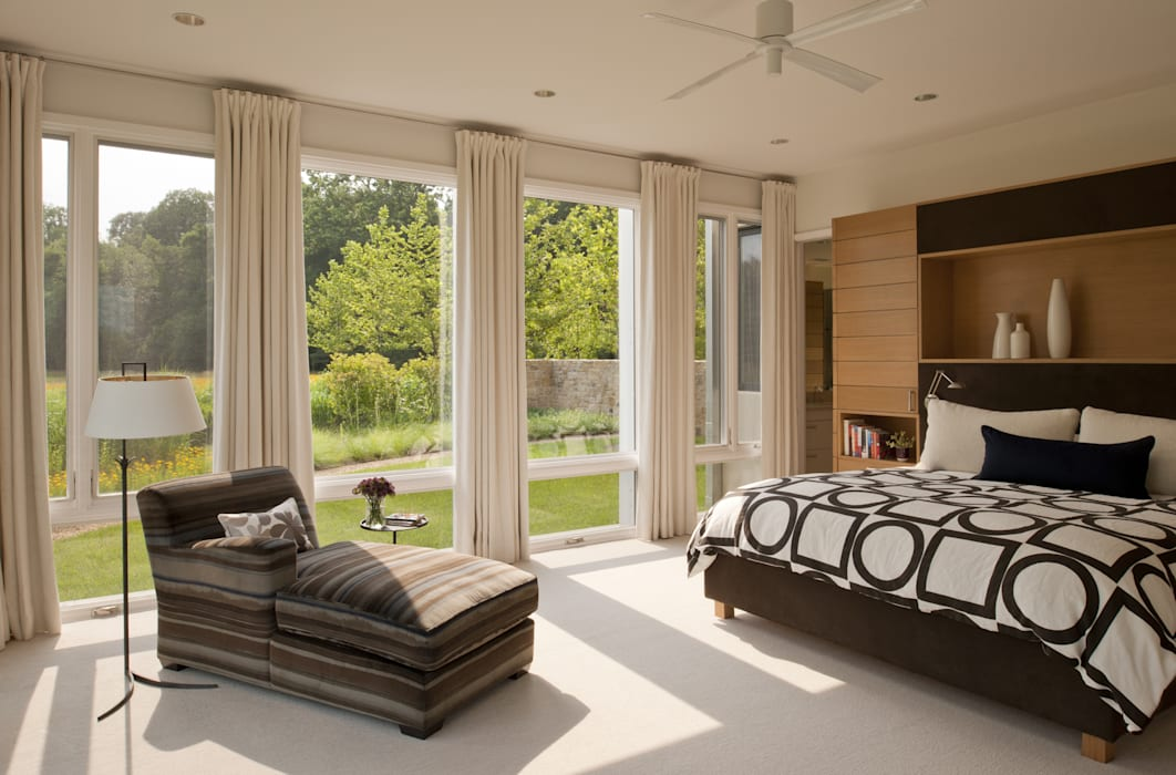 Green Building Features Abound in Bluemont, Virginia Custom Home Modern Bedroom by BOWA - Design Build Experts Modern