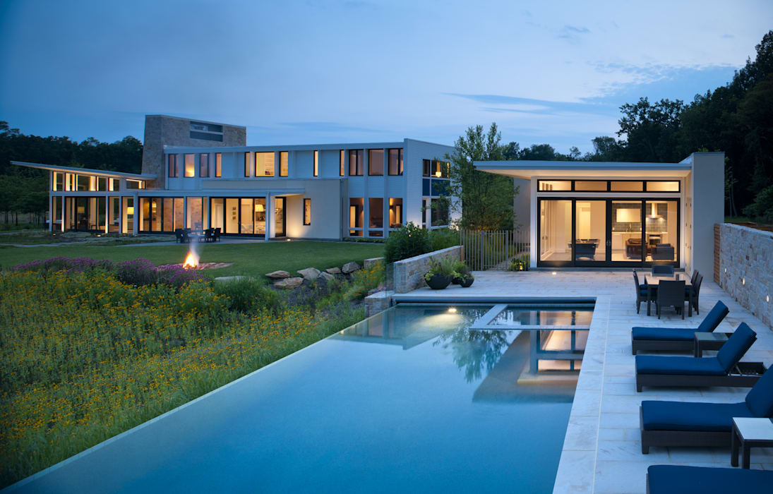 Green Building Features Abound in Bluemont, Virginia Custom Home by BOWA - Design Build Experts Modern