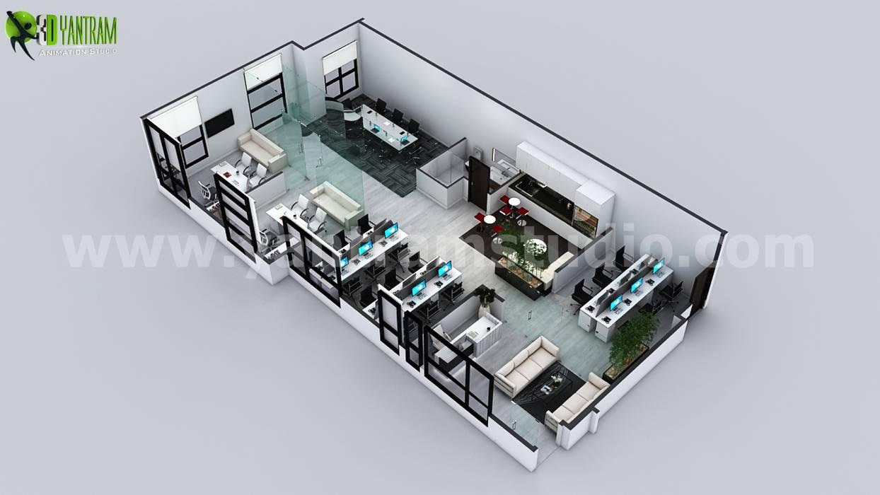 Office 3D Floor Plan Design Ideas: Modern Nursery/kidu0027s Room By Yantram  Architectural Design