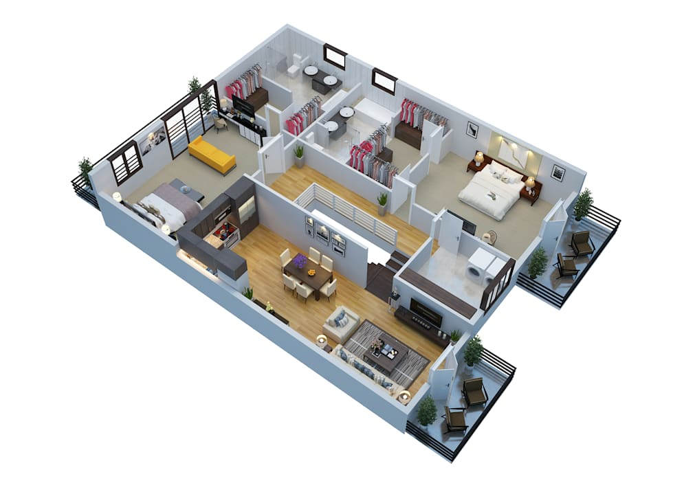 3D Floor Planner - Renderings:  Commercial Spaces by Real Estate Floor Planner