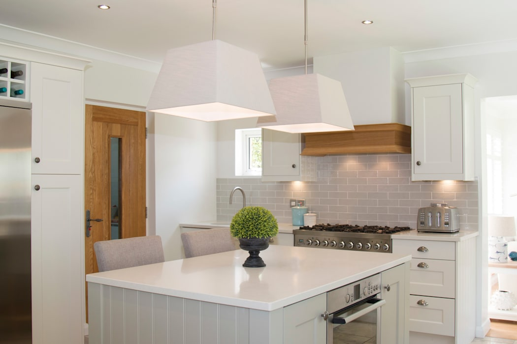 Polished Quartz Work Surfaces are both luxurious and hard wearing:  Built-in kitchens by ADORNAS KITCHENS