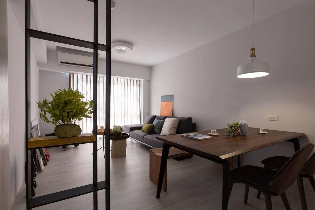 樸.淨 築川設計 现代客厅設計點子、靈感 & 圖片