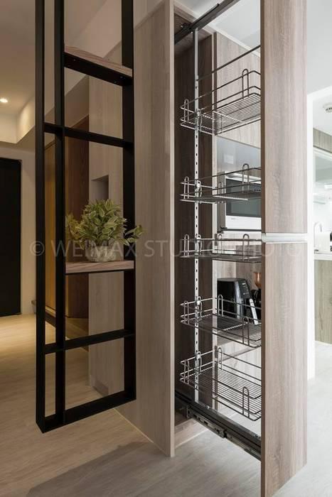 樸.淨 築川設計 現代廚房設計點子、靈感&圖片