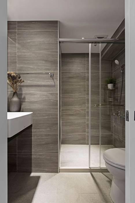 樸.淨 築川設計 現代浴室設計點子、靈感&圖片