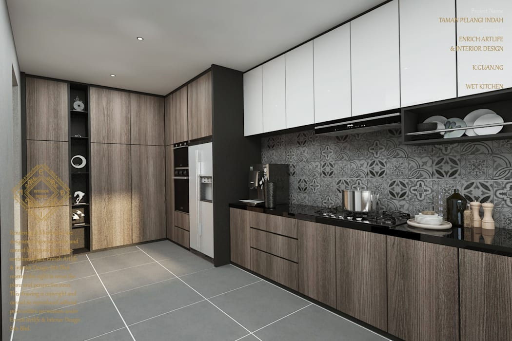 Kitchen Modern style kitchen by Enrich Artlife & Interior Design Sdn Bhd Modern