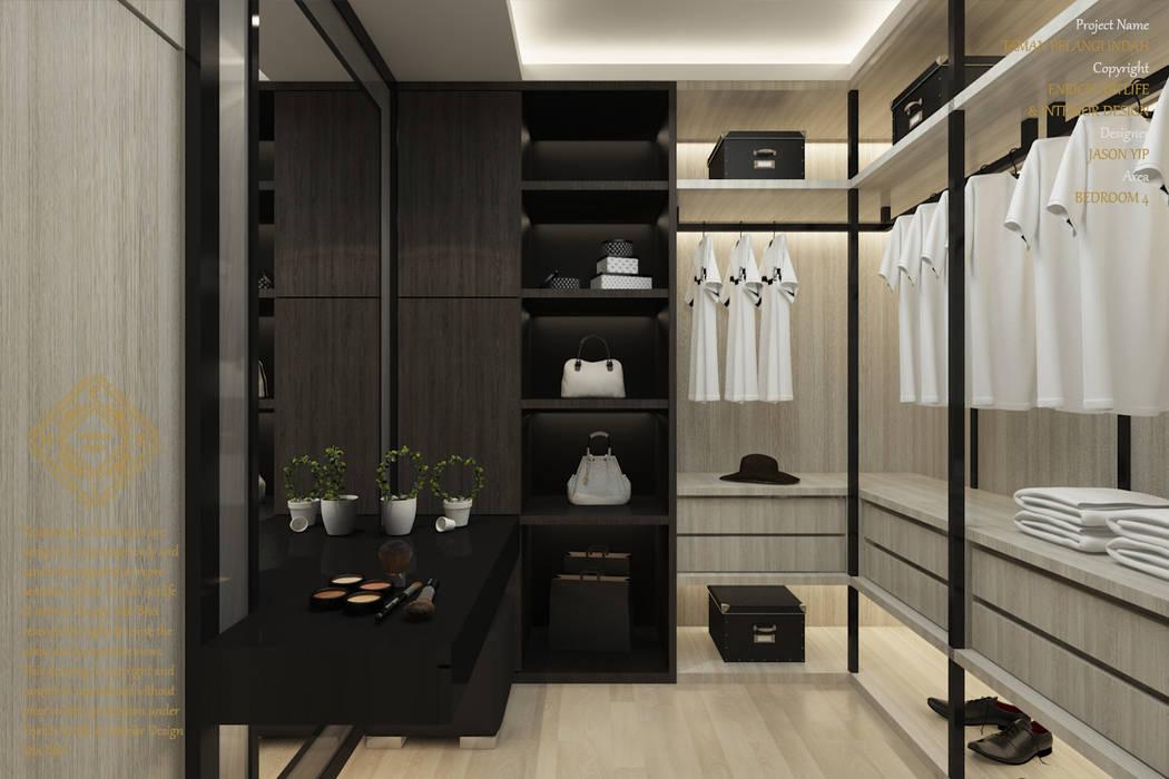 Double Storey House Corner Lot In Pelangi Indah:  Dressing room by Enrich Artlife & Interior Design Sdn Bhd, Modern