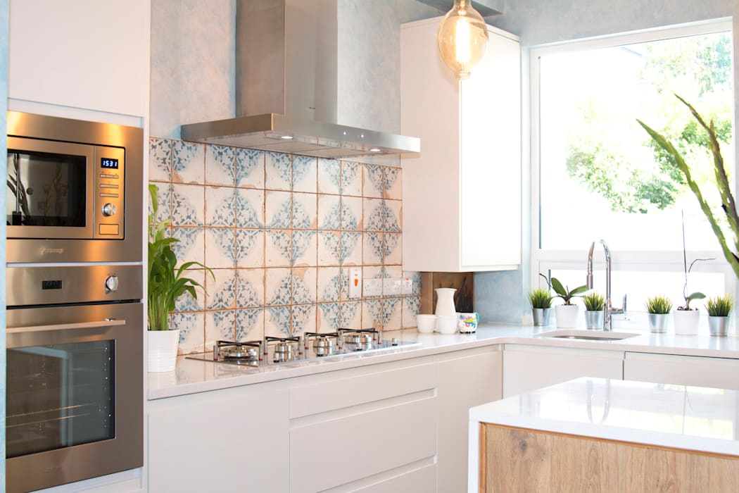 We love pattern:  Built-in kitchens by ADORNAS KITCHENS