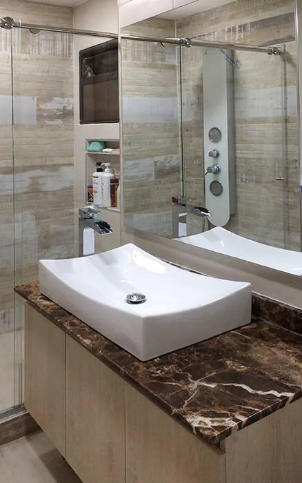 Remodelación de baño: Baños de estilo  por Remodelar Proyectos Integrales,