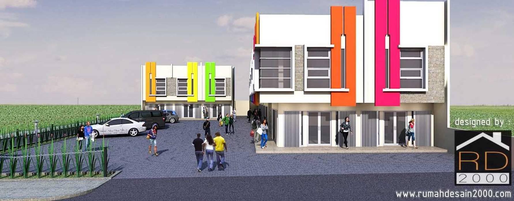 Tampak Depan Ruko Minimalis 2 Lantai Kantor Toko By Rumah Desain
