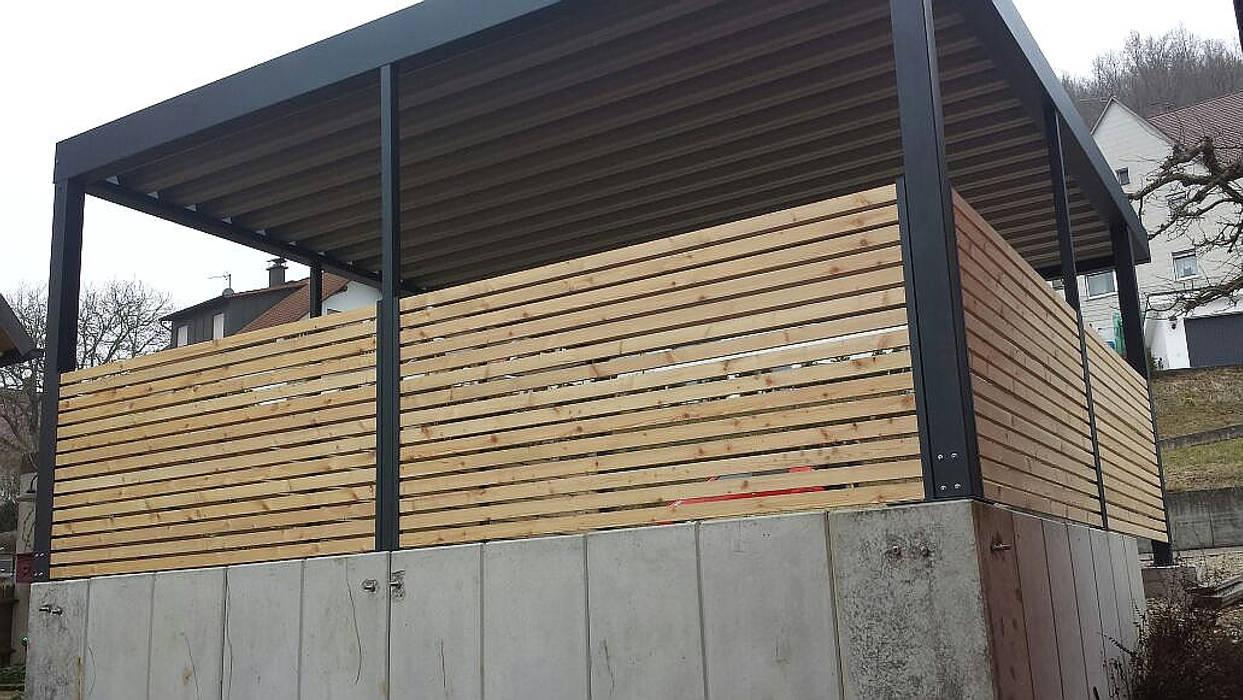Halbhohe Verkleidung Aus Holz Garage Schuppen Von Carport Schmiede
