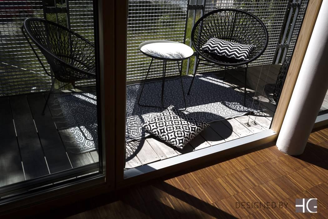 Münchner home staging Agentur GESCHKA Modern Terrace