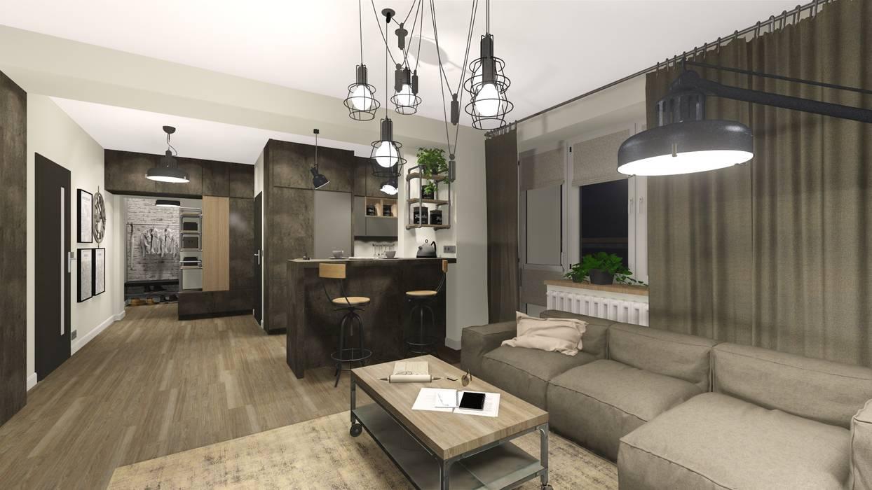 :  Living room by KOKON zespół architektoniczny