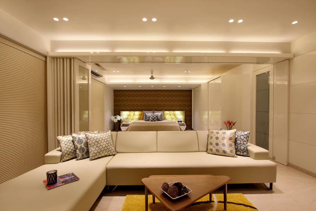 safal penthouse Modern living room by USINE STUDIO Modern