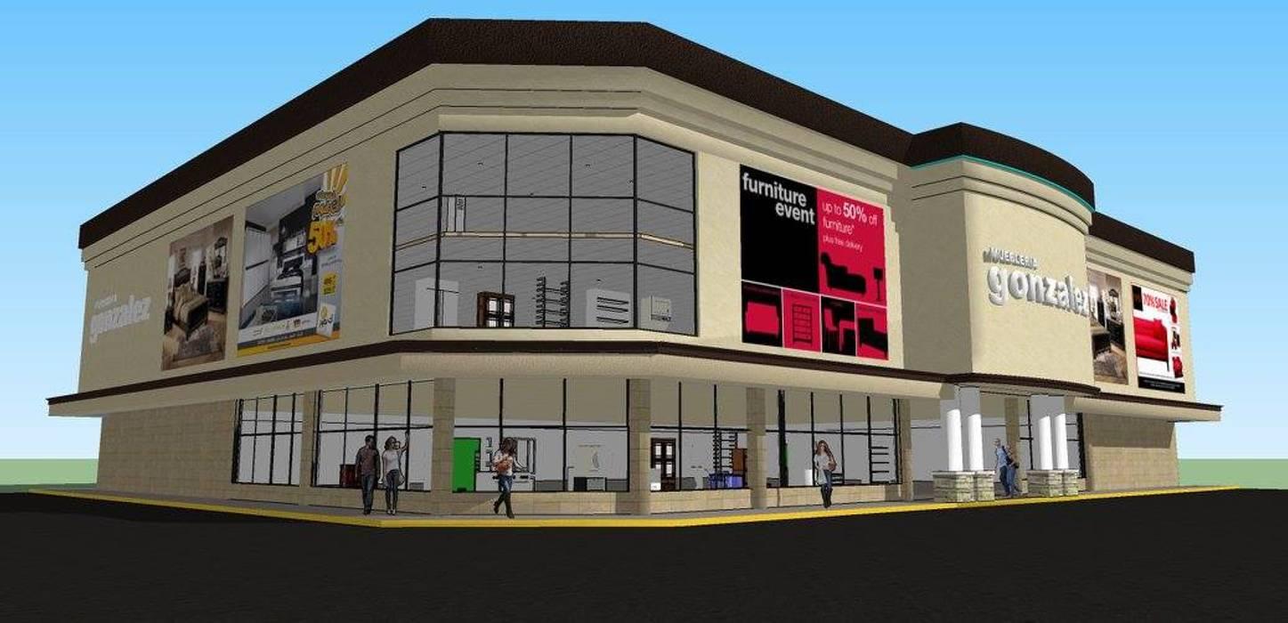 Centros de exposiciones de estilo  por DAC DISEÑO ARQUITECTURA Y CONSTRUCCION