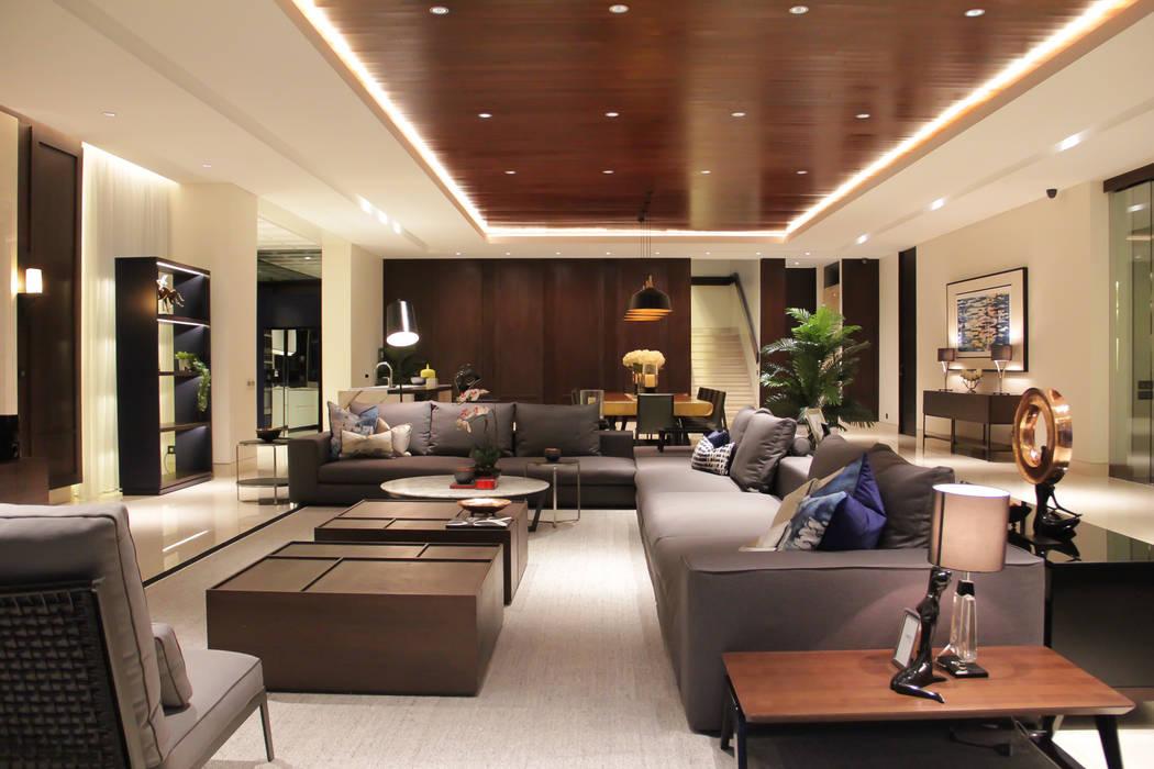 BS RESIDENCE ALIGN architecture interior & design Ruang Keluarga Tropis