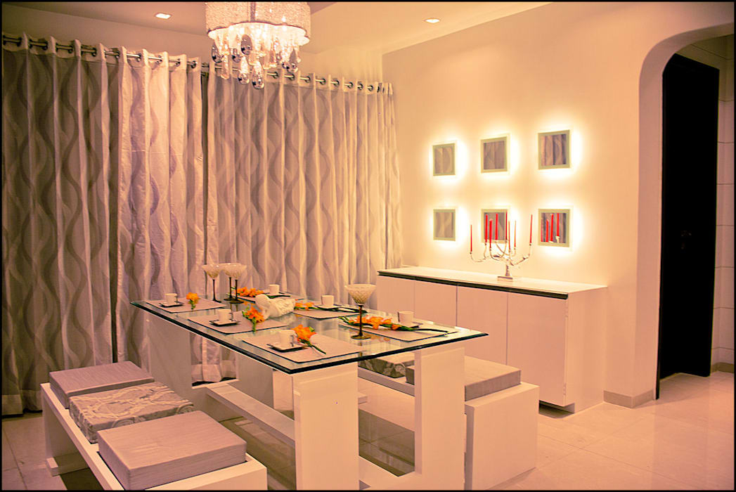 La tierra,Pune Modern dining room by H interior Design Modern