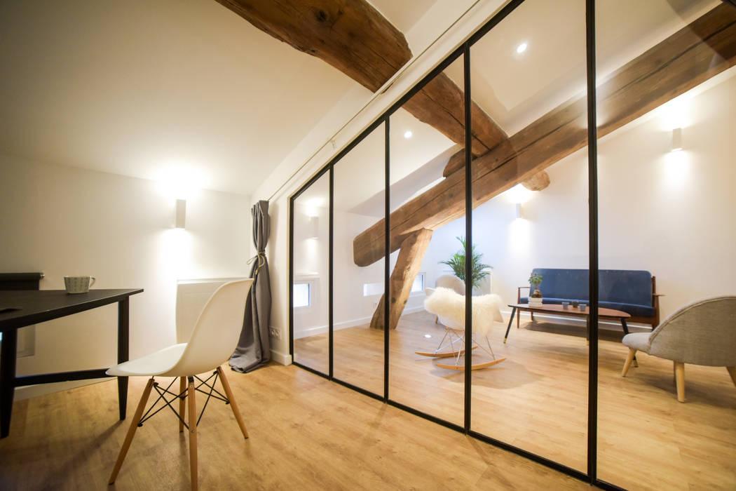 Chambre chambre de style par atelier madi homify - Chambre style atelier ...