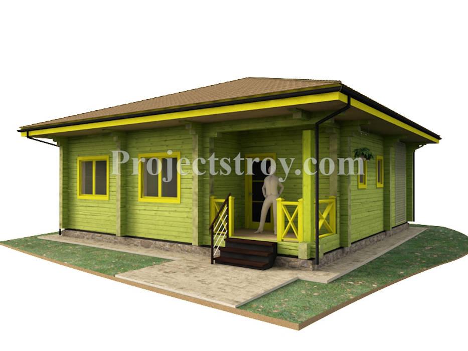 Проект одноэтажного дома из бруса: Деревянные дома в . Автор – Projectstroy
