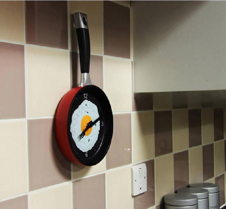 Kairos Frying Pan Wall Clock: modern  by Just For Clocks,Modern Plastic