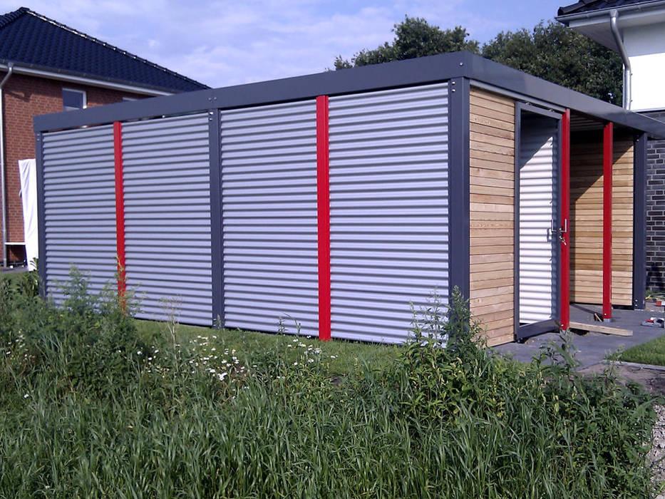 Wandverkleidung Garage : Metallcarport wandverkleidung stahlwelle garage schuppen von