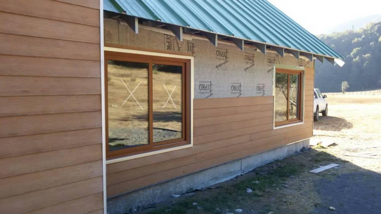 termopaneles en marcos de pvc roble Puertas y ventanas clásicas de telviche Clásico