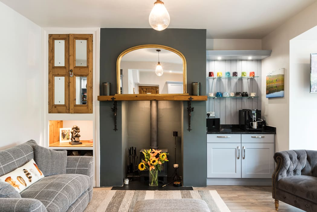 A neat alcove 现代客厅設計點子、靈感 & 圖片 根據 John Gauld Photography 現代風