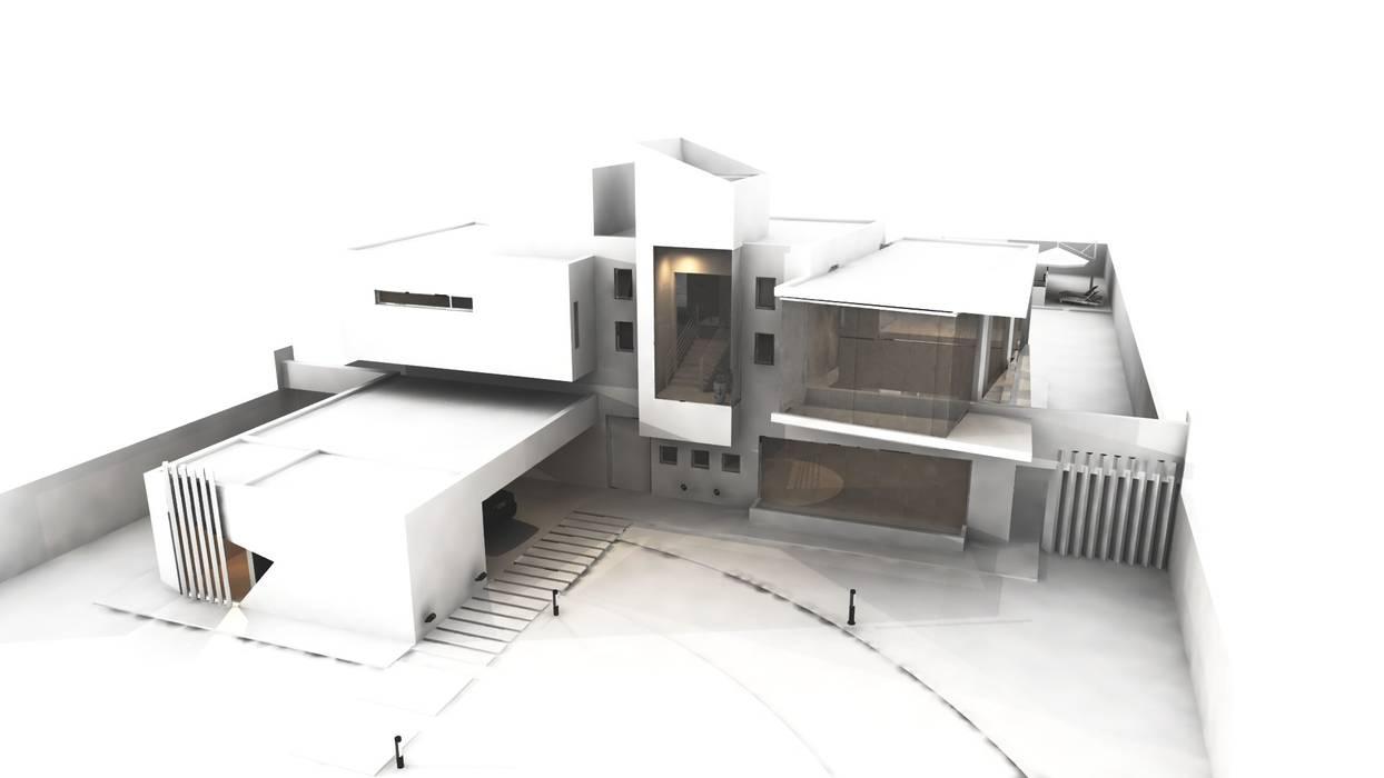Estudio de luces y sombras: Casas de estilo  por CASTELLINO ARQUITECTOS (+)