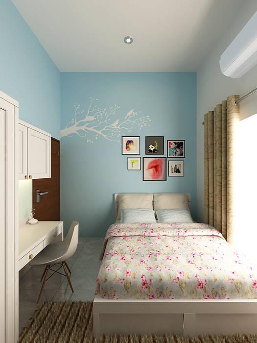 Kamar Anak: minimalist  by Akilla Concept, Minimalist Solid Wood Multicolored