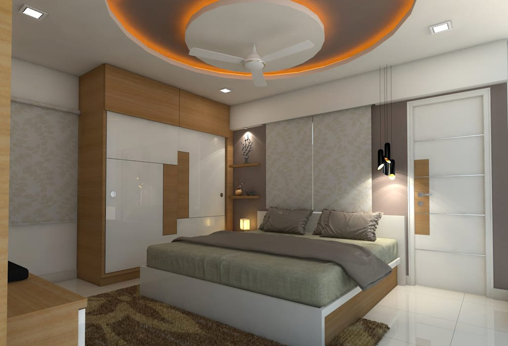 sai ram projects, kondapur Asian style bedroom by shree lalitha consultants Asian Plywood