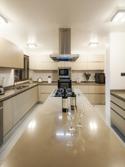 Casa Patio Bauer Arquitectos Cocinas de estilo moderno