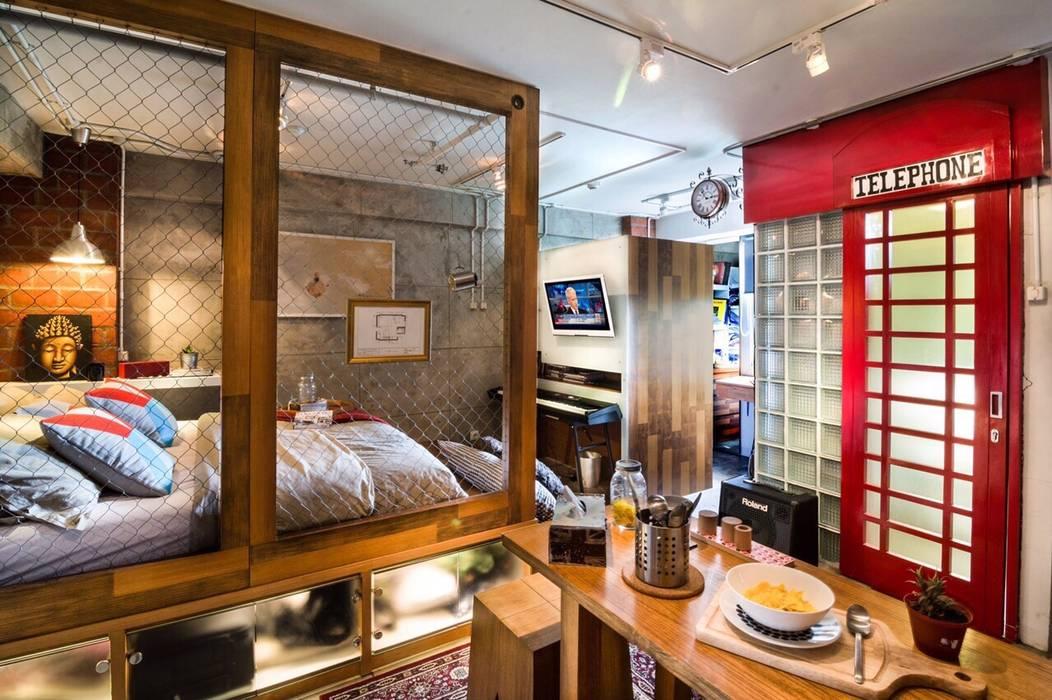 Industrial London inspired apartment: Kamar Tidur oleh SATTVA square, Industrial
