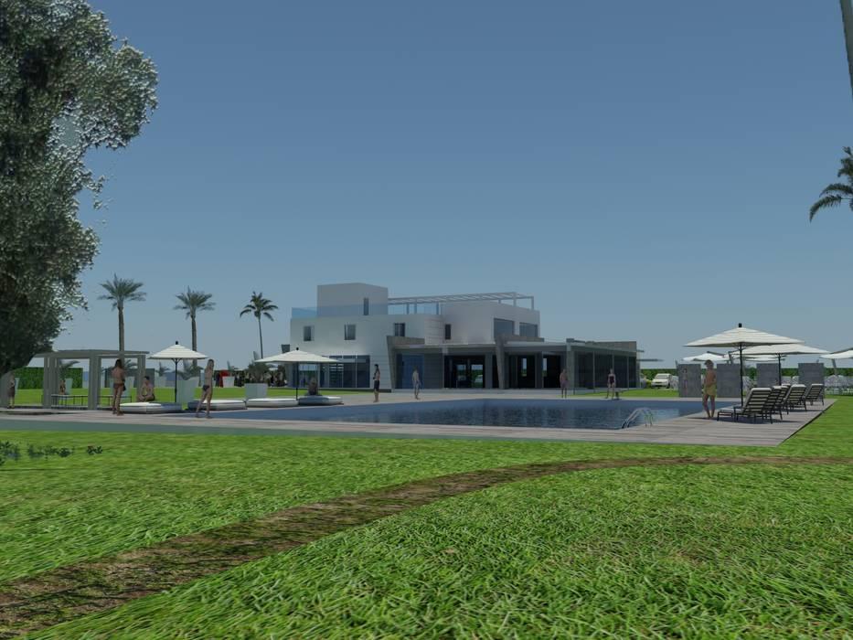 Rendering di progetto: Centri congressi in stile  di Emozioni di Architettura