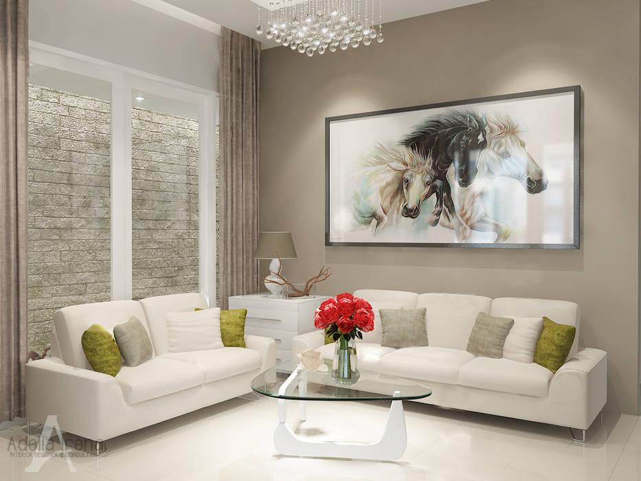 Ruang Tamu Ruang Keluarga Modern Oleh AIRE INTERIOR Modern