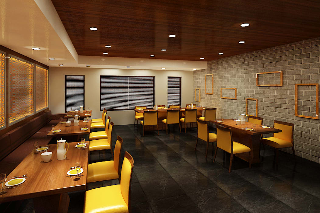 Restaurant - a major Franchise Colonial style hotels by Srijan Homes Colonial