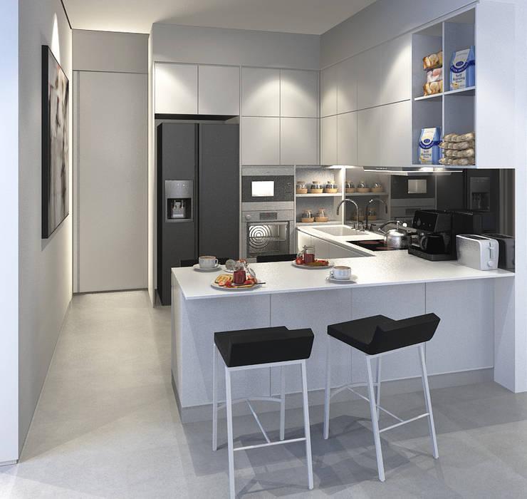 Bangka X House: Dapur oleh INK DESIGN STUDIO,