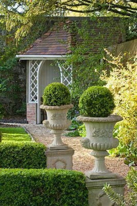 Ornamental Urns and topiary plants: modern Garden by Town and Country Gardens