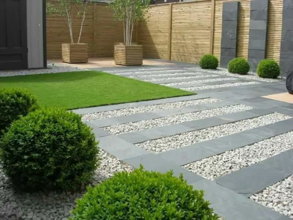 Contemporary style pathways :  Garden by Town and Country Gardens