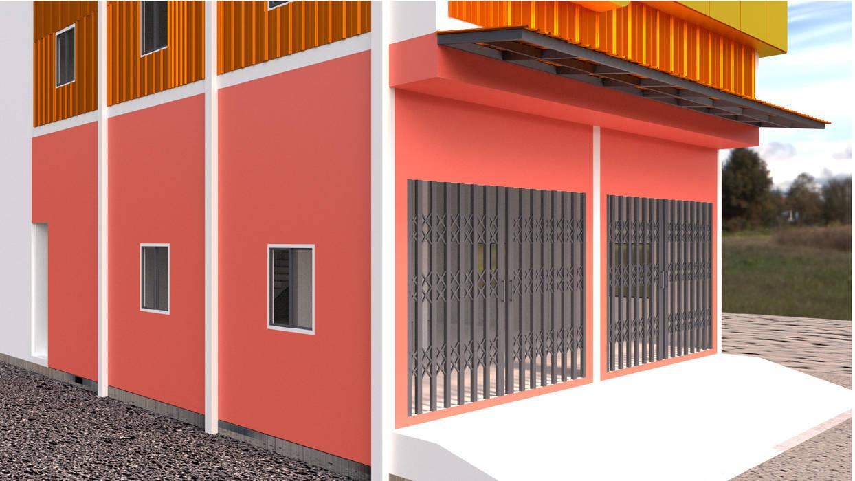 ออกแบบบ้าน style  modern :  บ้านสำหรับครอบครัว by mayartstyle