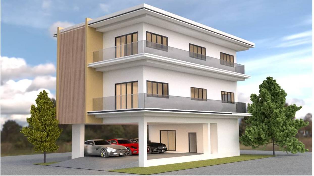 ออกแบบบ้าน 3 ชั้น style modern โดย mayartstyle โมเดิร์น คอนกรีต