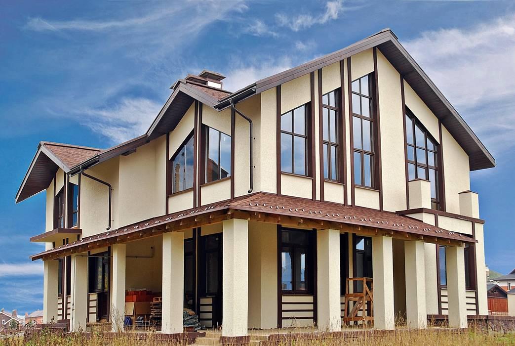 Балтия_318 кв.м: Дома в . Автор – Vesco Construction, Средиземноморский