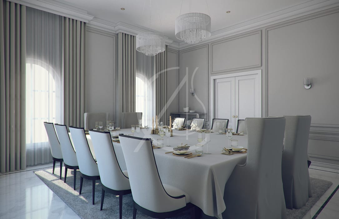Dining Room:  Dining room by Comelite Architecture, Structure and Interior Design
