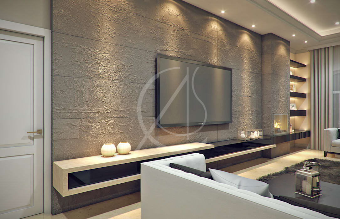 Living Area: modern Living room by Comelite Architecture, Structure and Interior Design