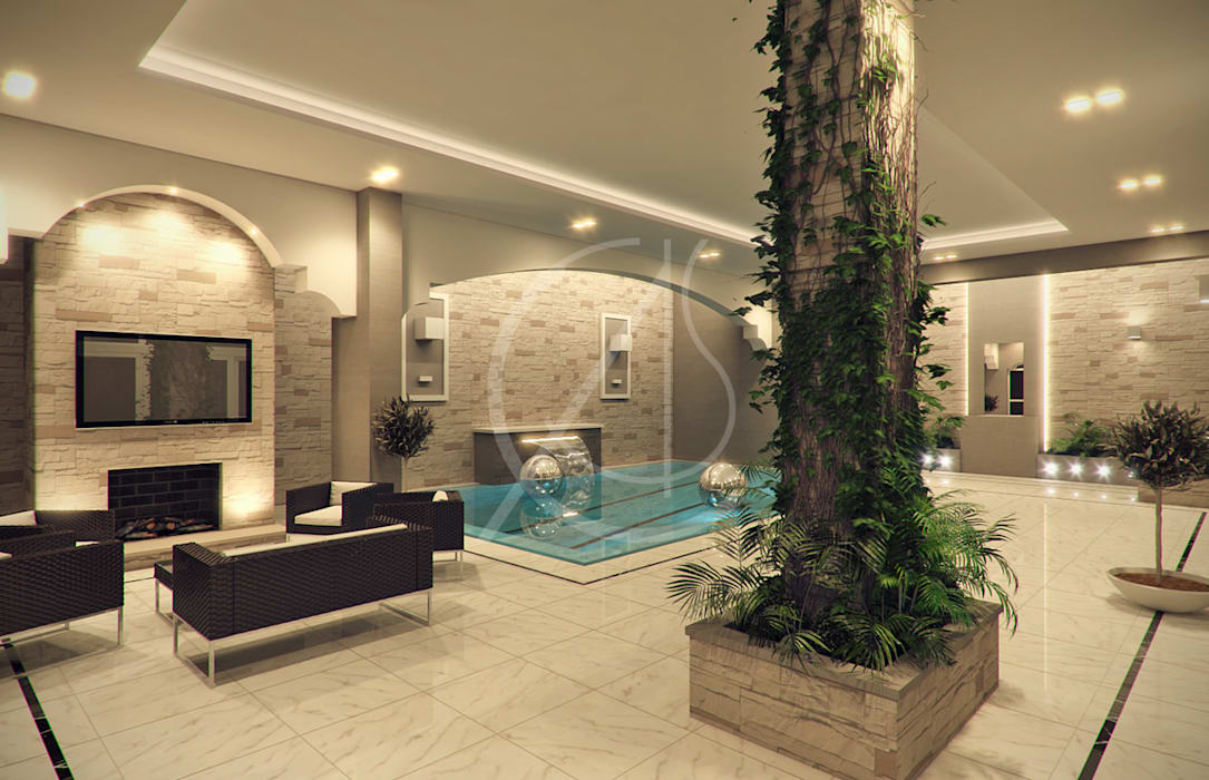 Indoor Pool: modern Pool by Comelite Architecture, Structure and Interior Design